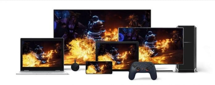 Google Stadia y dispositivos