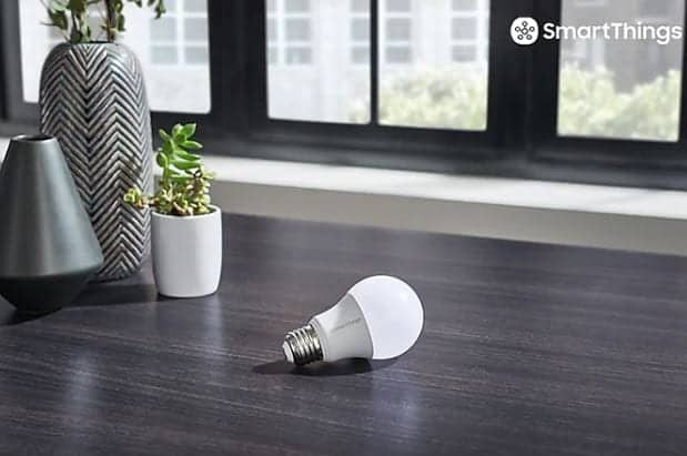 SmartThings Samsung Bombilla dispositivos inteligentes