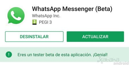 Fallo Whatsapp, actualizar whatsapp