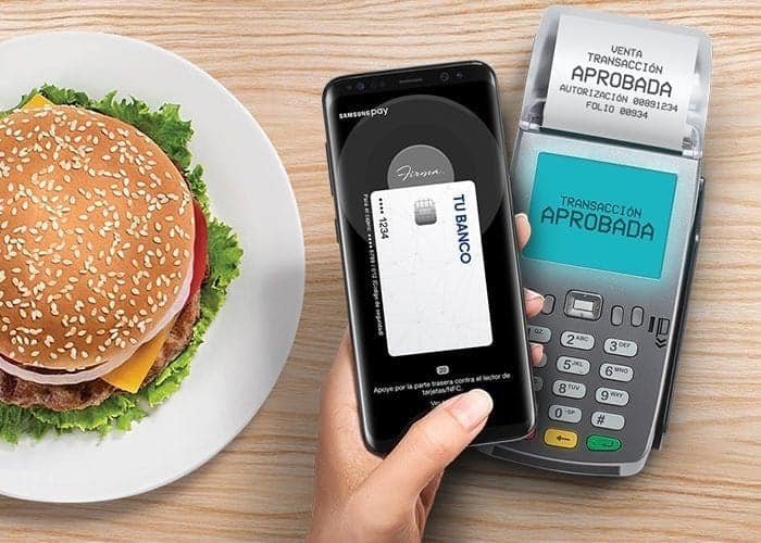 transaccion con Samsung Pay Cash
