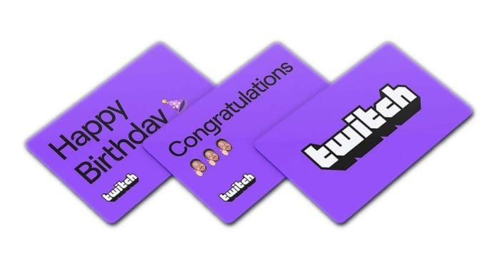 Twitch tarjetas de regalo virtuales